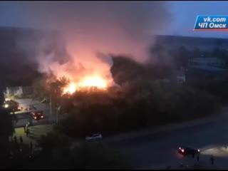 На Красноярском тракте произошёл сильнейший пожар