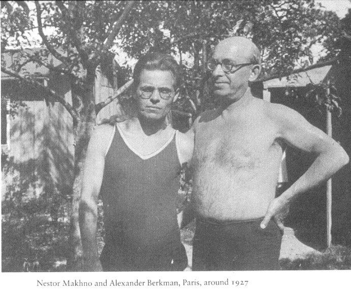 Нестор Махно и Александр Беркман, Париж, 1927 год.