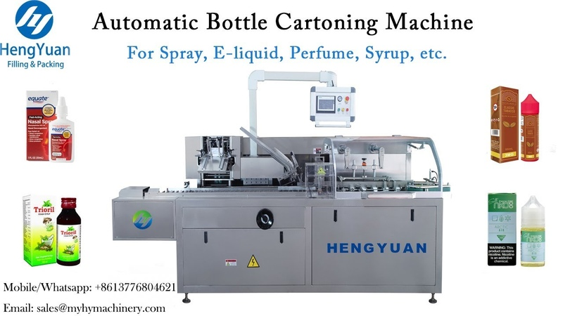 Automatic Spray Bottle Cartoning Machine with Instruction Paper Folding Inserting Device