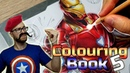 Professional Artist Colours a CHILDRENS Colouring Book Iron Man 5