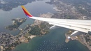 Southwest Flight Landing at Boston Logan Airport - 8-29-16