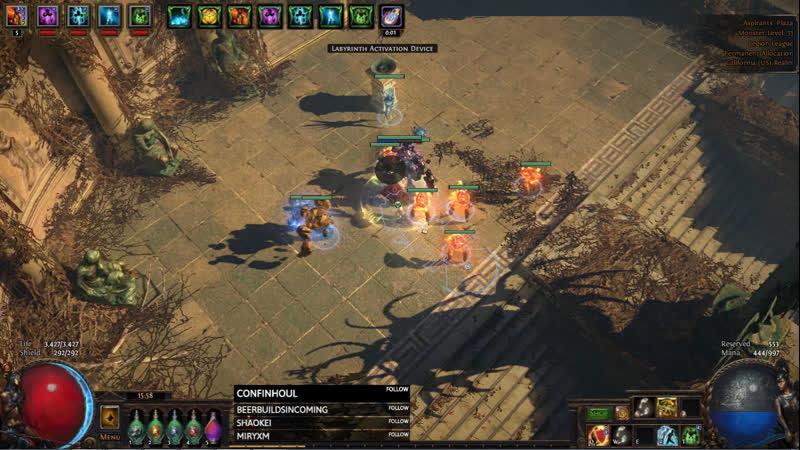SC Legion Flame Golementalist Lazy builds forever xD OBS crash 1