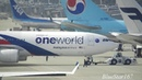 Oneworld Malaysia Airlines Airbus A330-300 9M-MTE takeoff from KIX/RJBB Osaka Kansai RWY 06R