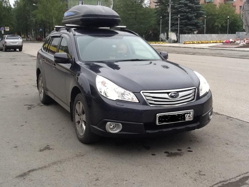 Багажник на крышу Subaru Outback с низкими рейлингами