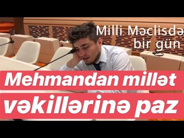 Mehman Hüseynov millət vəkillərini yıxıb sürüdü