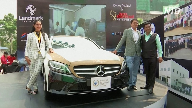 В Индии украсили Mercedes 350 000 бриллиантов