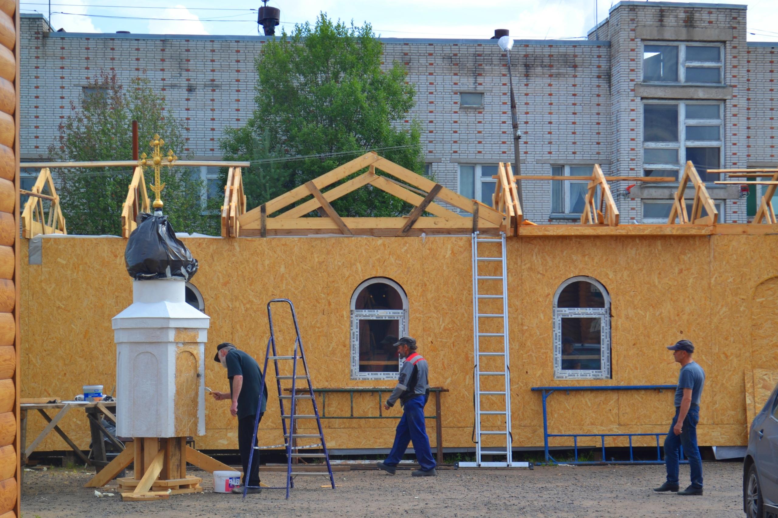 Купол нашего храма почти готов.