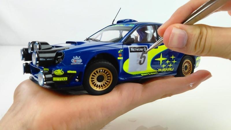 Awesome Build of a Tiny 2001 WRC Subaru Impreza - Tamiya 1/24 Full Build Step by Step Toy Car
