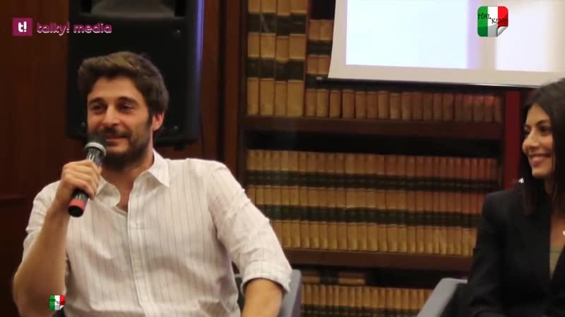 L'Allieva 2 Alessandra Mastronardi e Lino Guanciale in conferenza stampa ИТАЛКИНО