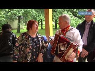 Открытие беседки в Комсомольском парке