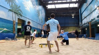 Great Shots from Indoor Sand Spikeball
