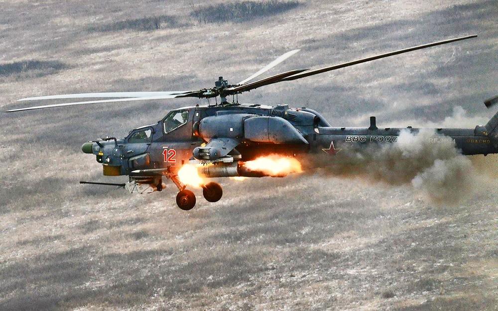 В КЧР армейская авиация нанесла сокрушительный удар по военной технике условного противника