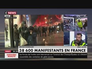 «Les Gilets Jaunes ne s'essoufflent pas, faut arrêter de se moquer du monde» (CNEWS,22/12/18,20h37)