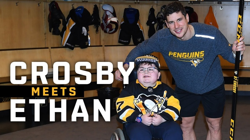 Sidney Crosby Meets Ethan McClean | Pittsburgh Penguins