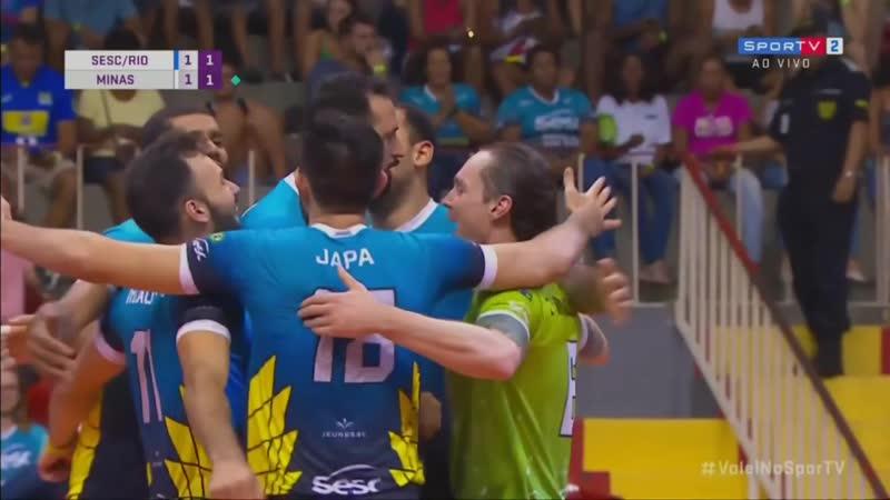 Сеск Минас Волейбол Бразилия Суперлига Мужчины Плей офф Четвертьфинал Сезон 2018 2019 Первый матч 23 03 2019