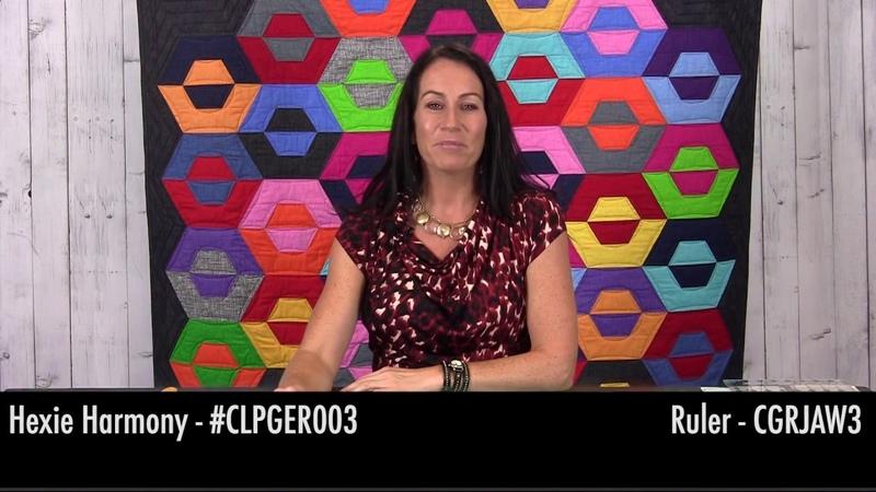 CGRJAW4 Hexagon Trim Tool Hexie Harmony Tutorial with Gudrun Erla