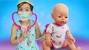 Беби Бон Эмили заболела— Чай сшиповником для куклы— Игры вдочки-матери для маленьких девочек