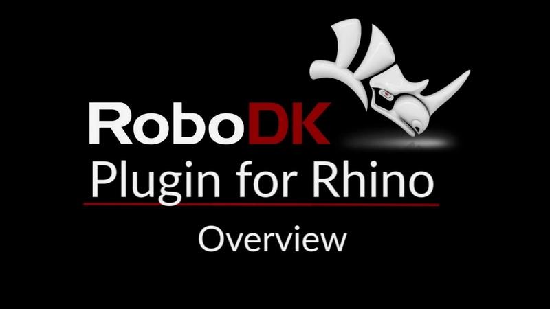 RoboDK Plugin for Rhino - Overview