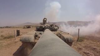 Российские танкисты состязаются  в скорости и стрельбе в горах Таджикистана