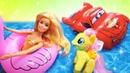 Игрушки в бассейне машинки Маквин и Вспыш, Пони, Барби, Щенячий Патруль, Хелло Китти, Беби Бон