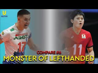 Polataev (russia) vs nishida (japan). best of lefthanded volleyball player. compare #6