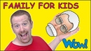 Family Story for Kids from Steve and Maggie   Speaking and Learning Wow English TV
