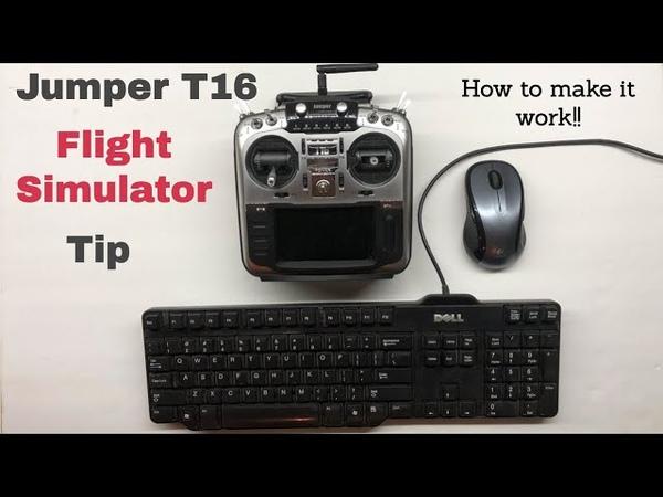 Setup Jumper T16 with Flight Simulator