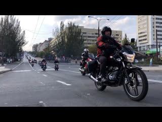 Мотоколонна на закрытии мотосезона 2019 в ДНР