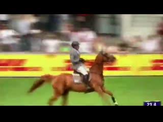 Chio aachen: у лошади philipp weishaupt, che fantastica, перед тройником ломается трензель
