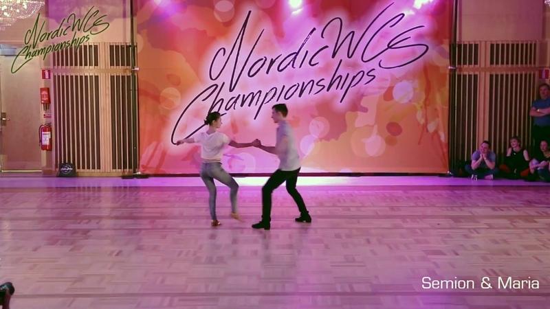 Semion Ovsiannikov Maria Elizarova Nordic WCS Championships 2018 Pro Show Demo