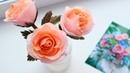 Красивая голландская роза из гофрированной бумаги. Цветы из бумаги своими руками