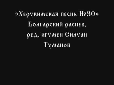 Херувимская песнь № 30 ред игумен Силуан Туманов