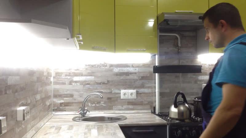 Диодная подсветка кухонных шкафов