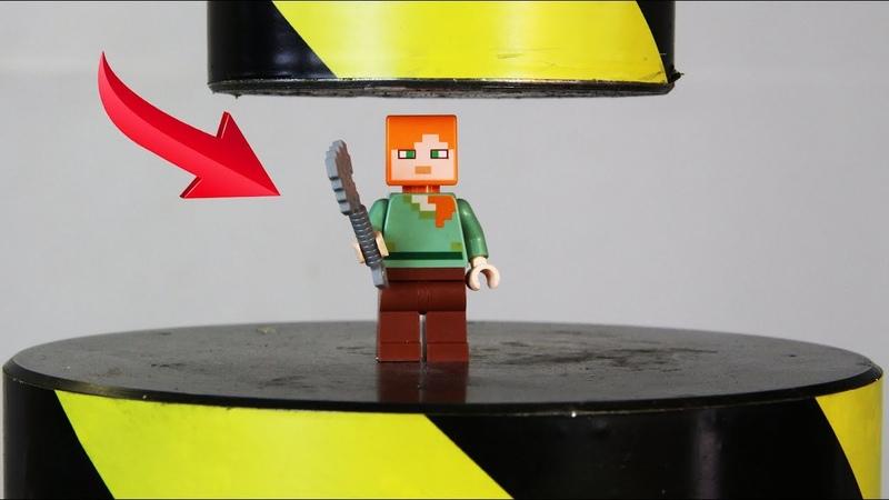 Experiment Hydraulic Press VS Lego Minecraft Alex The Crusher