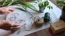 Imprints of Plants. Tutorial/Отпечатки растений. Мастер-класс. ЛЕСНЫЕ РАСТЕНИЯ.