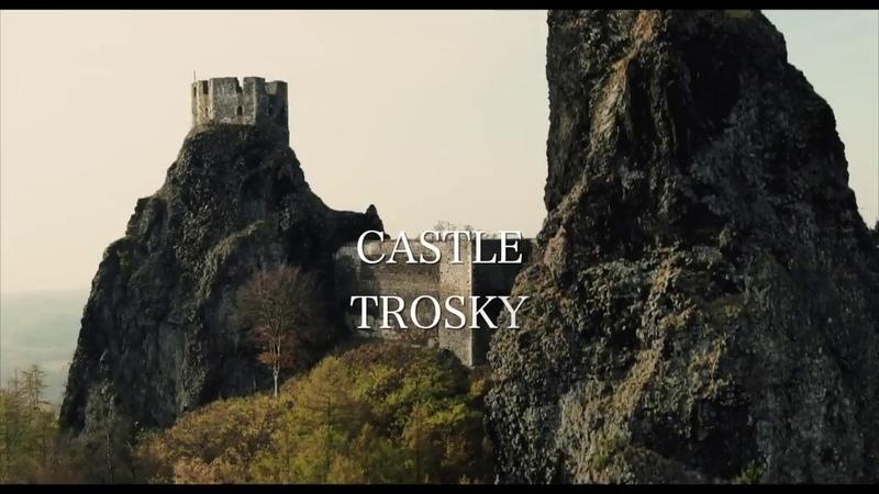 Castle TROSKY In Karkonosze Mountains by Mavic2 Drone View