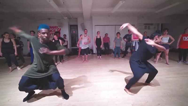 Omari Mizrahi Brinda Guha AFROINDIAN CLASS AT BROADWAY DANCE CENTER