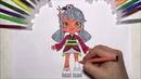 Раскраска для детей Шопкинс Сара Суши