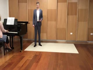 "Christchurch opera singer william o'brien sings ""o isis und osiris""."