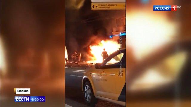 Вести в 20 00 • Стритрейсеры насмерть сбили женщину и заживо сгорели в Мерседесе