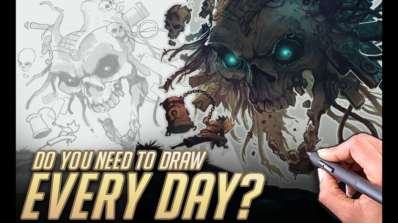 Do you need to draw EVERY day Work fast and focused