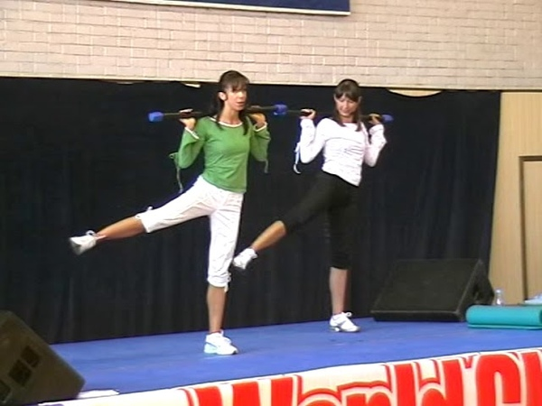 Фитнес конвенция 2007 г. World Class. Алексеева, функционалка с боди баром