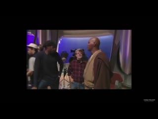 Samuel Jackson asking George Lucas for a Purple Lightsaber