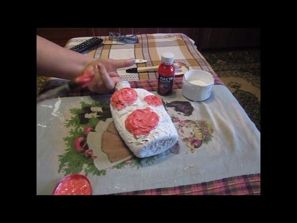 Розы из трикотажа Декорирование тканью