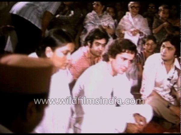 Muhurat of Bollywood film 'Satyam Shivam Sundaram' rare Raj Kapoor footage