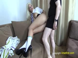 ArseFirst Blanche anal creampie shoot