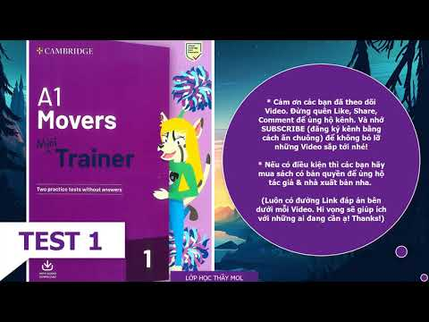 A1 Movers Mini Trainer 1 TEST 1 Listening TEST 1 Cambridge English