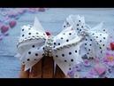 Бантики из репсовых лент Резинки для волос МК The bow of REP ribbons Laços de fitas