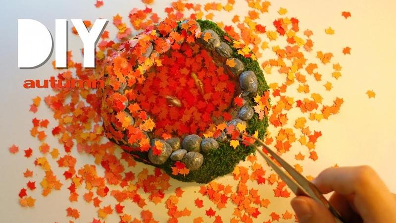 DIY☺︎uvレジン 秋の池/UVresin autumn pond