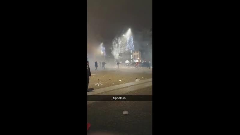 Новый Год в Амстердаме площадь Дам Kuku Video